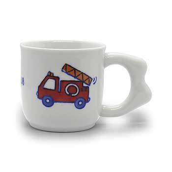 肥前陶磁器専門のオンラインショップ陶樹庵 子供用食器 消防車 マグカップ
