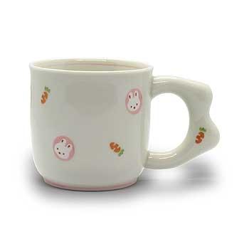 肥前陶磁器専門のオンラインショップ陶樹庵 子供用食器 ミニうさぎ マグカップ