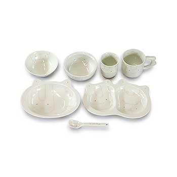 肥前陶磁器専門のオンラインショップ陶樹庵 子供用食器 コパン 7点セット