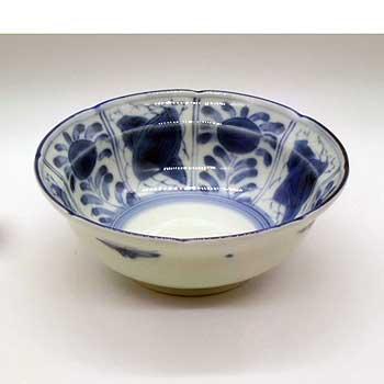 肥前陶磁器専門のオンラインショップ陶樹庵 有田焼 染付 花蝶 ふよう 漬物鉢